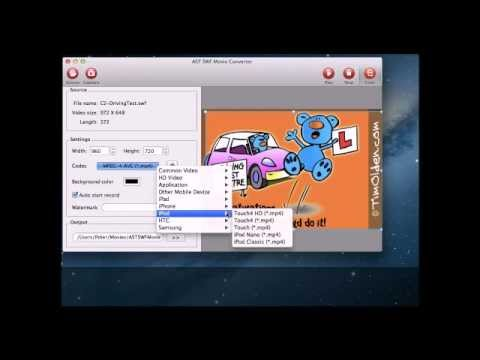 How to Convert Flash SWF to MP4 on Mac OS