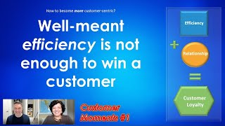 Customer Moments #1 - Well-meant efficiency is not enough to win a customer