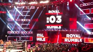 MEN'S ROYAL RUMBLE MATCH ALL ENTRANCE&ENDING&CHANTS JANUARY 28, 2018