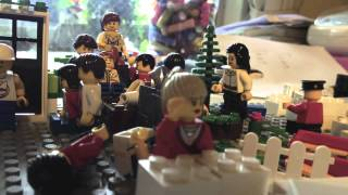 LEGO Stop Motion - Town that Earthquake occurred - (with English subtitles [cc] )