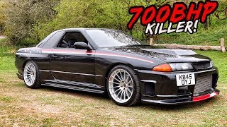 THIS SINGLE TURBO *700BHP NISSAN SKYLINE GTR* IS TOO FAST FOR THE ROADS!!