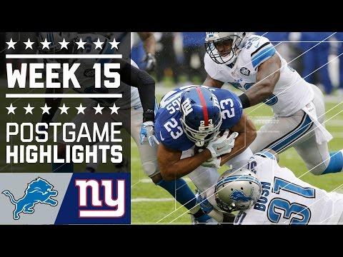 Lions Vs Giants Nfl Week 15 Game Highlights