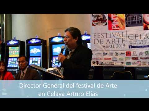 Director del festival de arte en celaya Arturo Elias