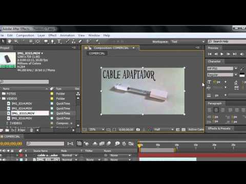 After Effects CS5 Parte 4 Efectos, Opacidad, Escala