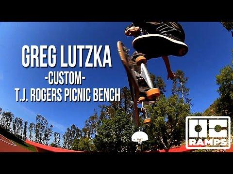 Greg Lutzka's Custom T.J. Rogers Bench