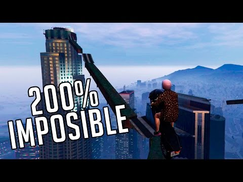 GTA 5 ONLINE - CARRERA 200% IMPOSIBLE!! SALTOS EN MOTOS - GTA V ONLINE