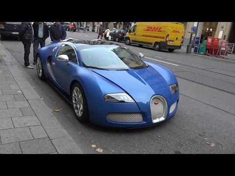 MATTE BLUE Bugatti Veyron 16.4 Grand Sport in Munich - Some Details