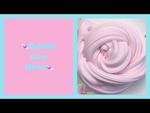 Как сделать слайм// DIY бабл гам слайм/ слайм жевачка