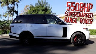Here in my garage, 550bhp Supercharged Range Rover HSE!