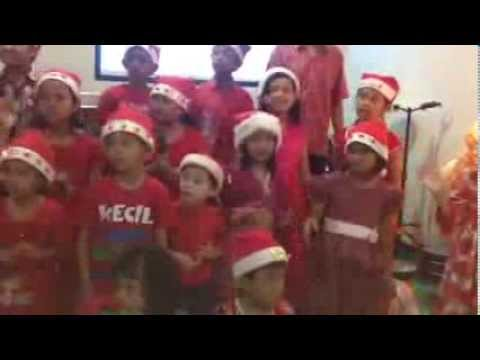 Persembahan pujian Natal Anak Sekolah Minggu GKII Tangerang