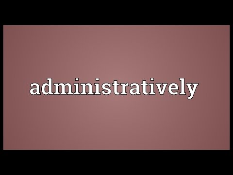 Header of administratively