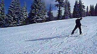 Amazing skiing backwards...Fast!!!