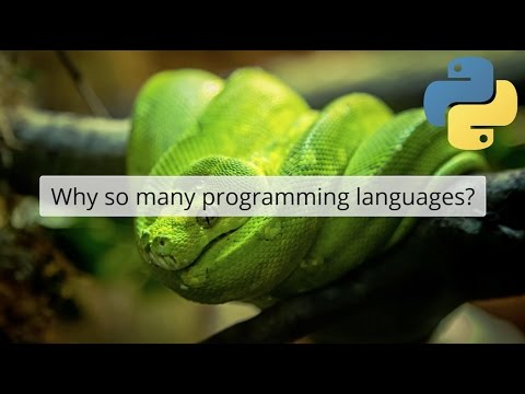 Why so many programming languages?