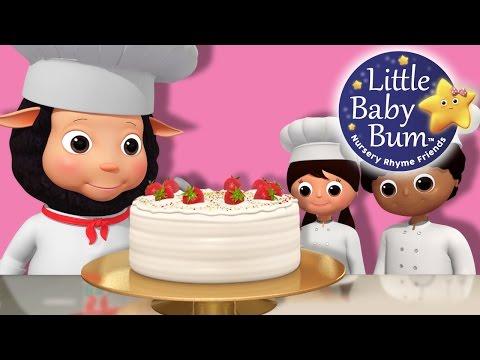 Bake, Bake A Cake   Nursery Rhymes   By LittleBabyBum!