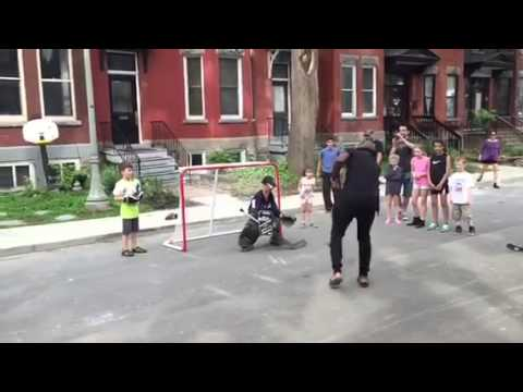 P.K. Subban Surprises Kids, Joins Road Hockey Game in Westmount, QC