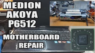 MEDION AKOYA P6512 Notebook Repair--Black Screen