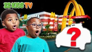 CUTE MONSTER DRIVES TO MCDONALDS!  What Should We Do? Vlogskit