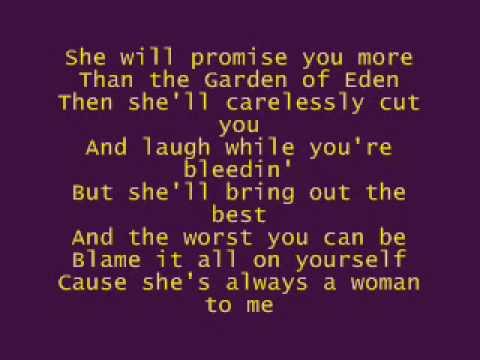 shes always a woman lyrics genius