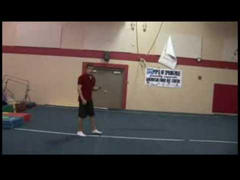 Competitive Gymnastics Tips : Layout Tips for Advanced Gymnastics Video