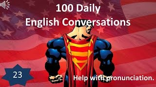 Daily English Conversation 23: Help with pronunciation.