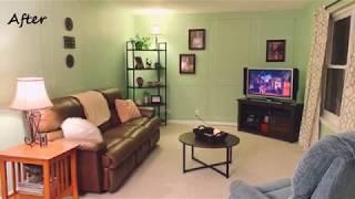 Birthday Surprise - Living Room Remodel!