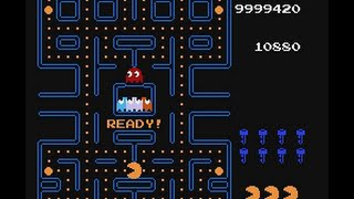 NES Pac-Man - How many levels? 10 hours longplay. Score overflow at level 836 by AI after 10h46m