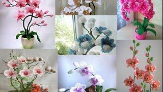 Орхидеи плетеные из бисера отличные идеи.