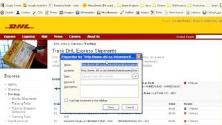 Bookmark Your DHL Shipment Tracking with just one click.