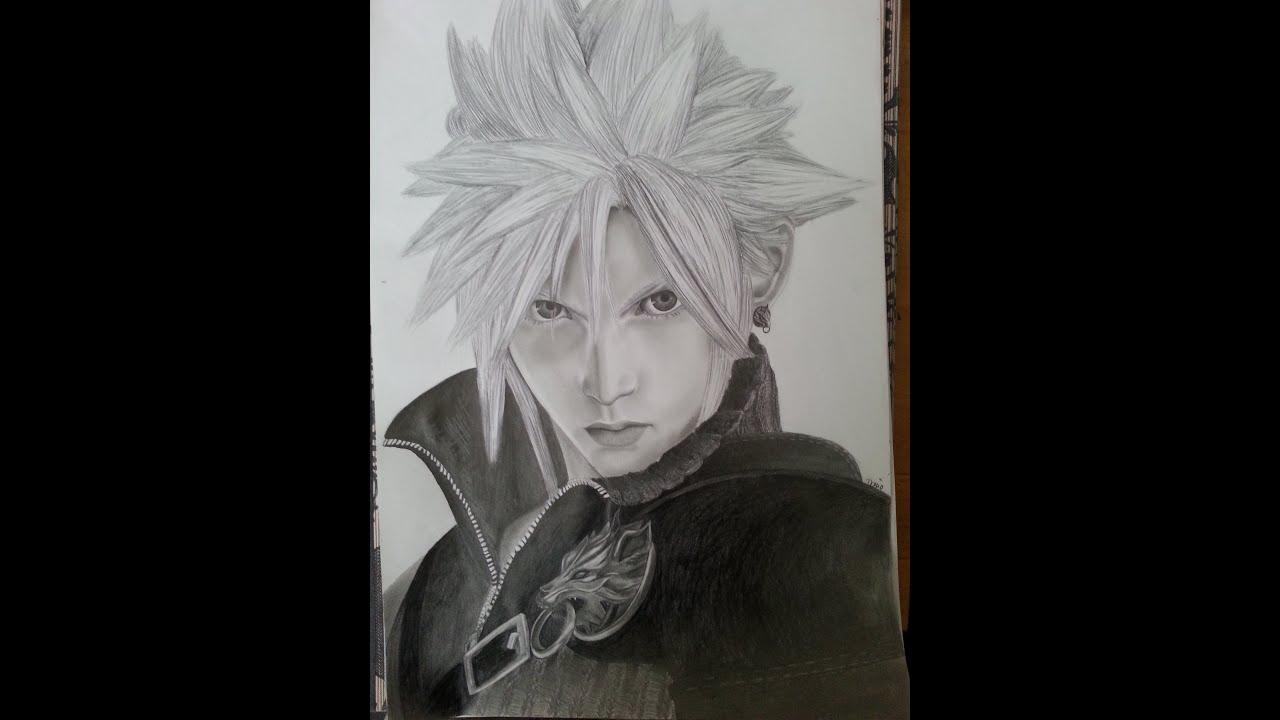 Fantasy Clouds Drawing Final Fantasy Vii Cloud