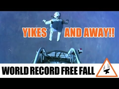 World Record 24 Mile Free Fall by Felix Baumgartner