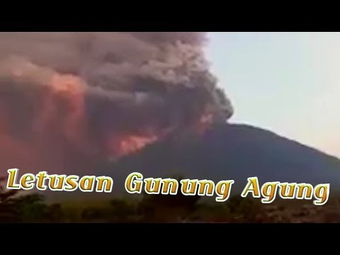 Detik Detik Gunung Agung Meletus 26 November 2017