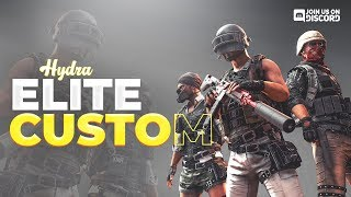 🔴 PUBG MOBILE LIVE l HYDRA Elite Customs l 300K FAM! 🙌 l !s TO SPONSOR 🎉