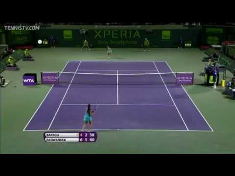 Agnieszka Radwanska vs Bartoli - Miami 2012 - Highlights
