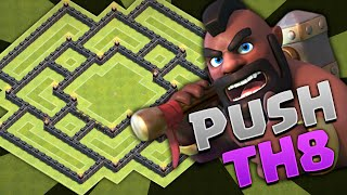 "Clash Of Clans - TH8 PUSHING!CRAZY PUSHING BASE!!!"" ""MUST SEE! Town Hall 8 2016"