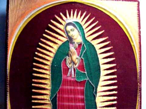 Virgin Mary Of Guadalupe >> VIRGIN MARY FOLK ART BY HAND - VIRGEN DE GUADALUPE ARTE A MANO. - YouTube
