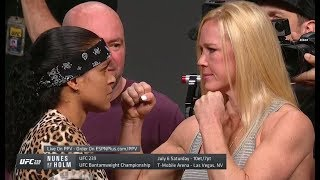 UFC Seasonal Press Conference Faceoffs
