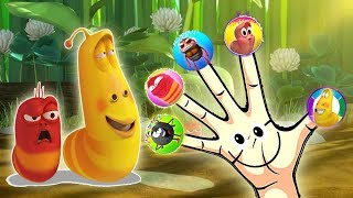 Larva Cartoon Finger Family Nursery Rhymes - ABC Finger Family