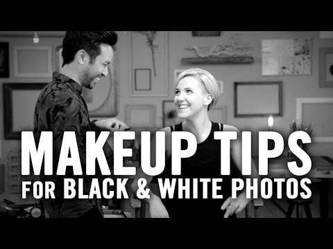 Makeup Tips for Black and White Photos with Marc Reagan & Hannah Hart // I love makeup.