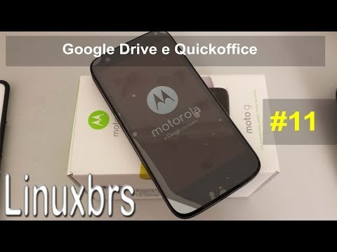 Moto G Motorola XT1033 - Usando o Google Drive e Quickoffice - PT-BR - Brasil