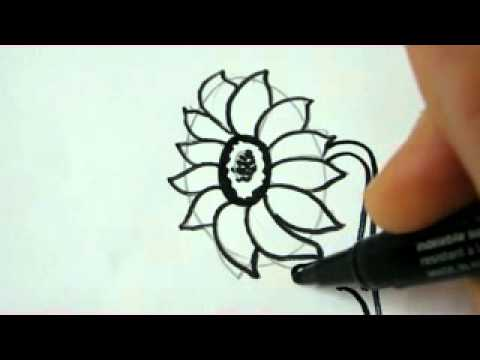 Easy to Draw Sunflower Draw a Flower Sunflower