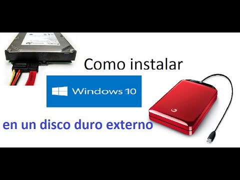 Windows 10   Instalar en disco duro externo