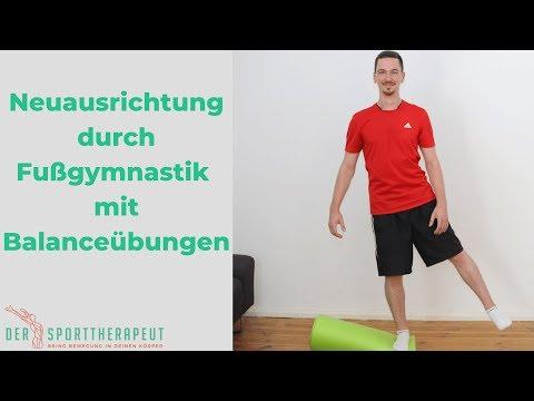 Fußgymnastik durch Balanceübungen - statische und koordinative Neuausrichtung des gesamten Körpers