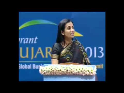 CEO of ICICI Bank  Chanda Kochhar's speech at the Vibrant Gujarat summit 2013