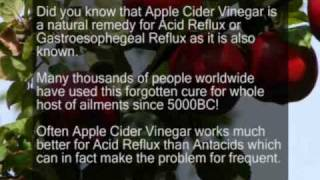 Apple Cider Vinegar  Cure Acid Reflux / Heartburn GERD