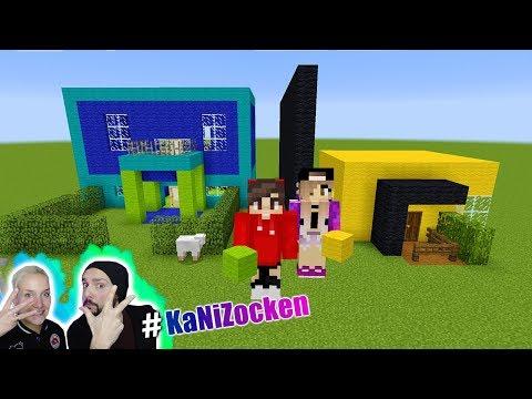 MARKER CHALLENGE Minecraft Edition KAANS HAUS Vs NINAS HAUS - Minecraft altmodische hauser bauen