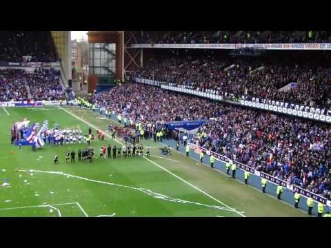 Ibrox Title Party, End Of Game. 4/5/2013