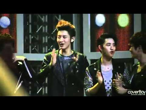 120526 EXO-K Chanyeol twinkle dance Cute @KBS Music Bank Music Videos