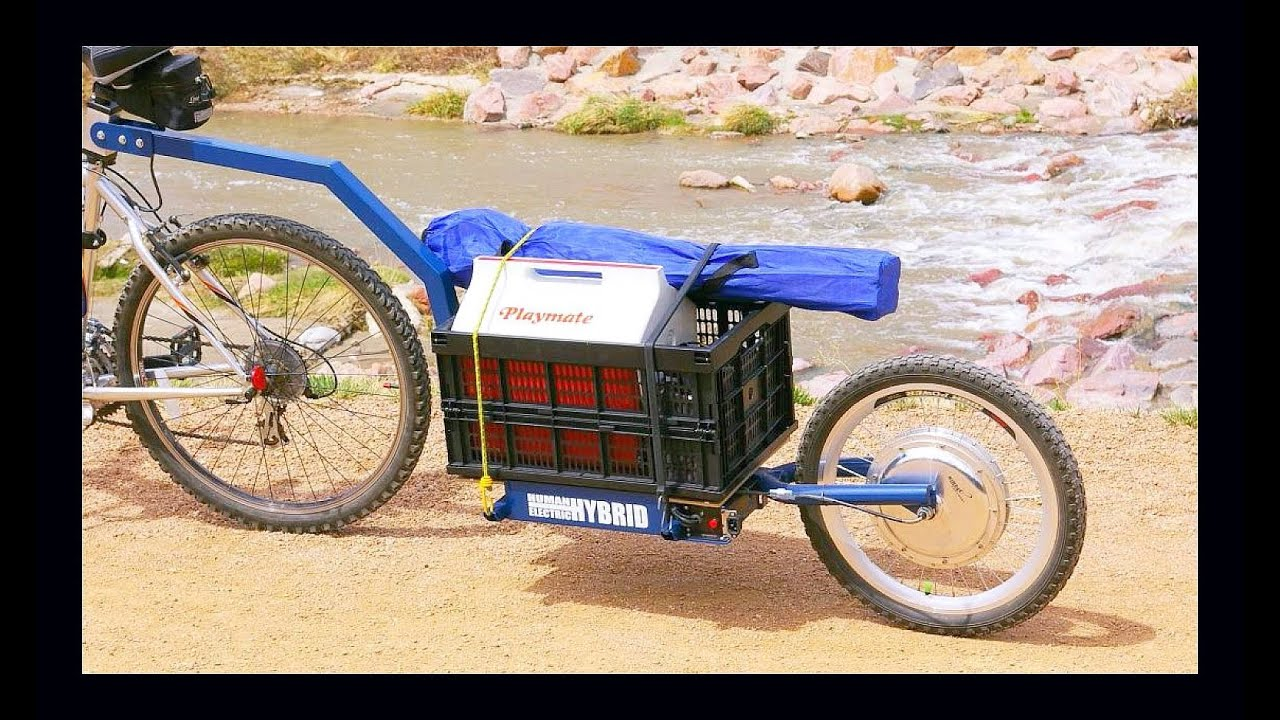 Bikes At Work Trailer Review Electric Bicycle Push Trailer