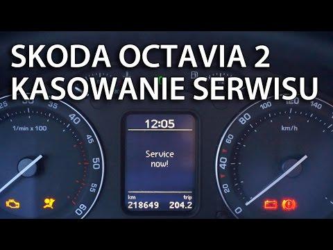 Kasowanie inspekcji serwisowej Skoda Octavia II (reset Service now!)