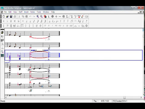 SIlent Night in NoteWorthy Composer
